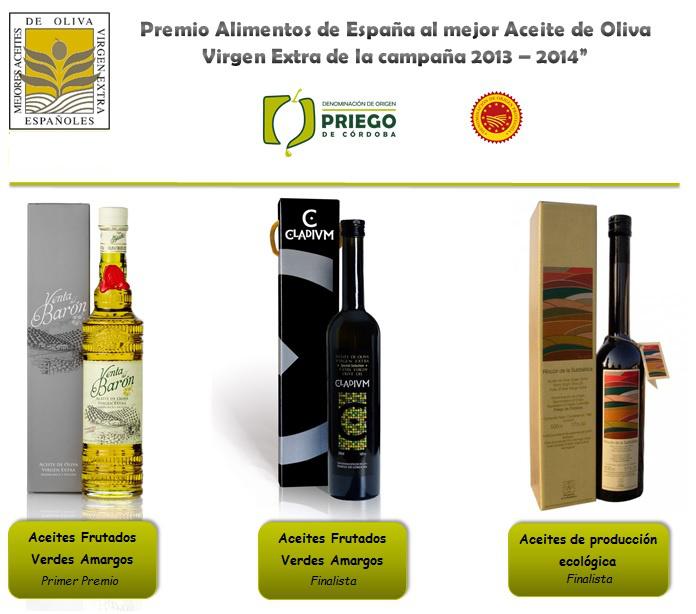 Premios aceite ministerio 2014